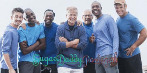Grupo de homens sugardaddys